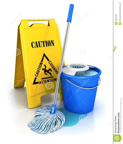 3d supplies 3d cleaning equipment stock illustration image of render