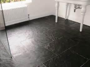 Chelsea Gray Bathroom - slate tiled wet room floor in ealing central london tile doctor