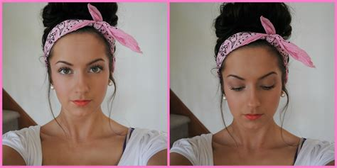 can u wear use hair up with a non layered bob quot messy quot bun with bandana youtube