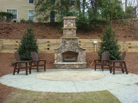 fireplace backyard patio chimney garden patio designs uk
