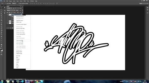 graffiti tag logo photoshop tutorial youtube