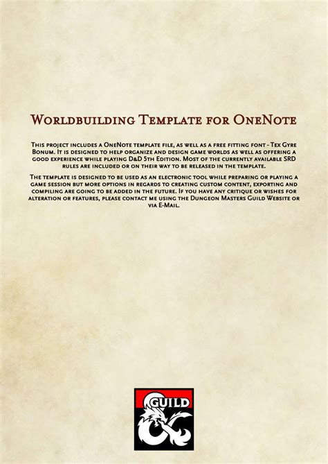 World Building Template