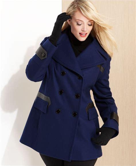 7 Best Pea Coats For Fall by Via Spiga Plus Size Coat Faux Leather Trim Pleated Pea