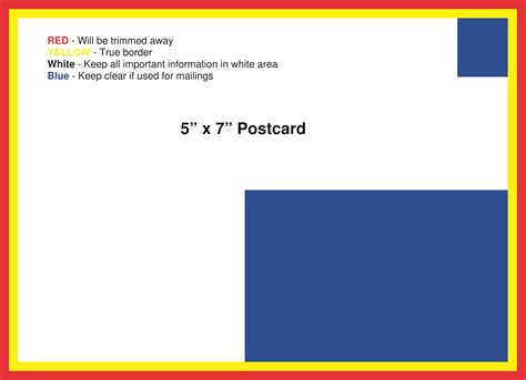 postcard template american printing and mail