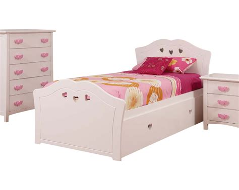 heart bed hearts king single trundle bed white bambino home