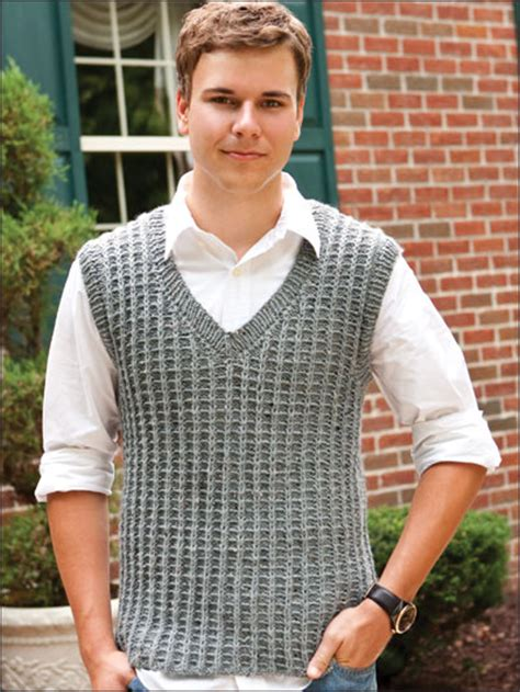 Free knitting man pattern vest