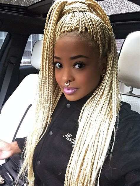 colored box braids on pinterest ombre box braids blonde blonde box braids afro hairstyle black girl stylin