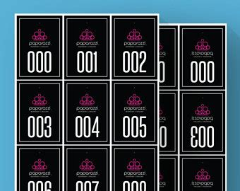 printable numbers for paparazzi paparazzi numbers etsy
