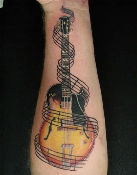 simple guitar tattoo design 60 inspirational guitar tattoos guitar tattoo tattoo