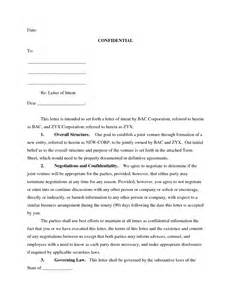 Joint Venture Letter Of Intent Template best photos of creating a letter of intent sle letter
