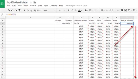 Dividend Tracker Spreadsheet by How To Create A Dividend Tracker Spreadsheet Dividend Meter