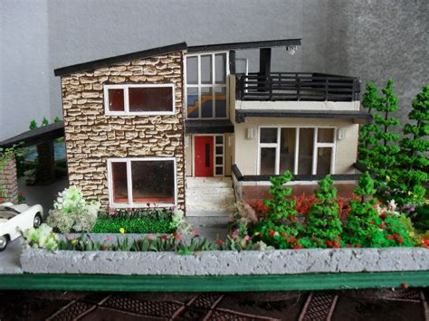 miniature homes models modern miniature model house with property ho scale