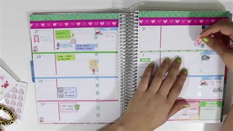 new youtube layout august 2015 plan with me erin condren horizontal layout july 27