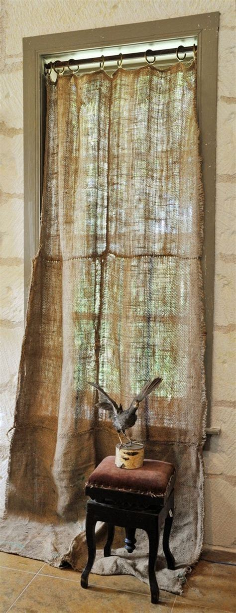 burlap curtains pinterest burlap curtain for the home pinterest burlap