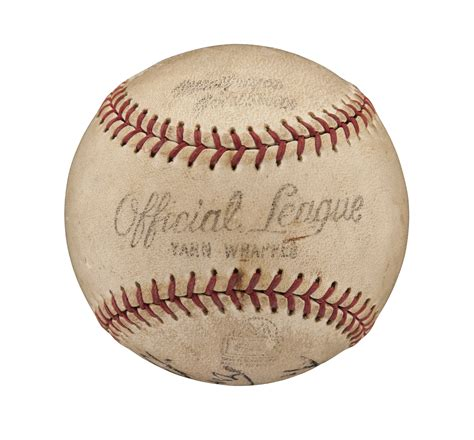 Lot Detail Babe Ruth Single Signed And Inscribed Baseball