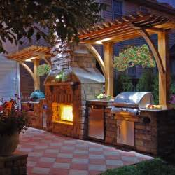 14 inspiring outdoor kitchens with fireplace designs