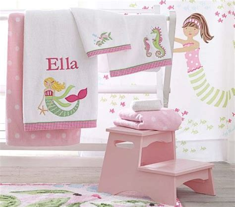 pottery barn kids bathroom ideas mermaid bath towels and rug pottery barn kids natalie