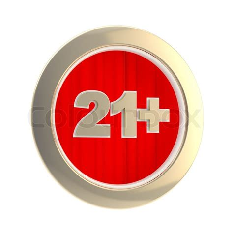 in color age limit age limit 21 symbol made of gold ring and