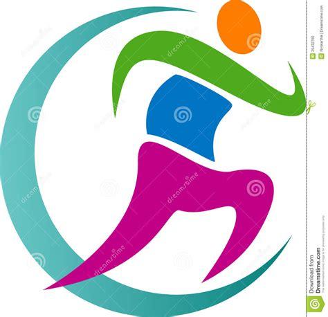 Emblem Logo Running running logo stock photo image 25432780
