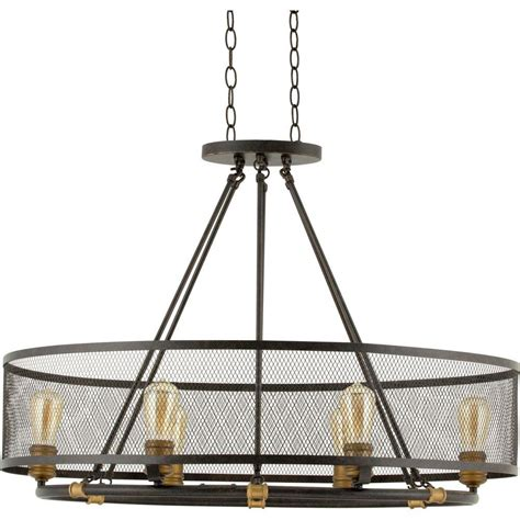 Chandeliers For Home Progress Lighting Heritage Collection 6 Light Forged Bronze Chandelier P7926 77 The Home Depot