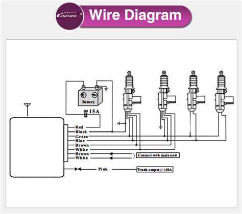 remote door lock wiring diagram for car wiring