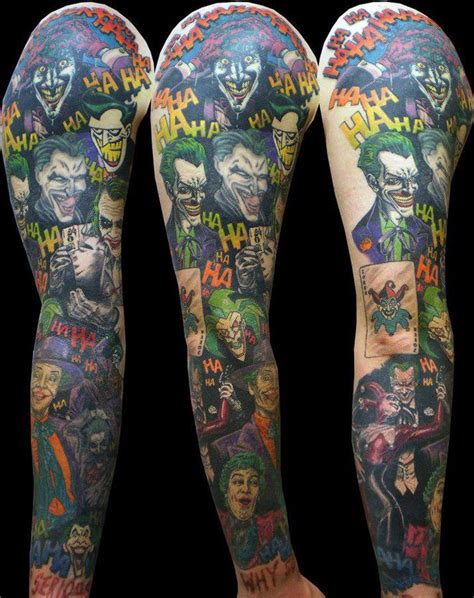joker tattoo sleeve designs 25 best ideas about batman sleeve on