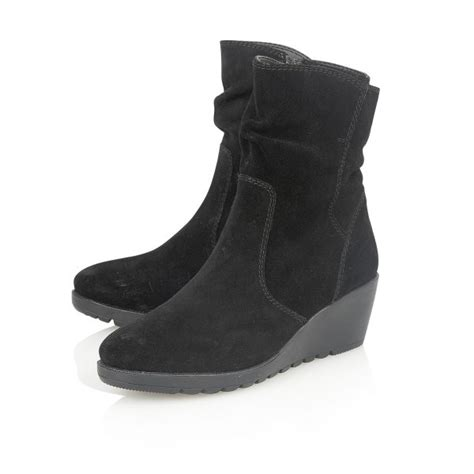 lotus taxus 40154 s black suede boots free