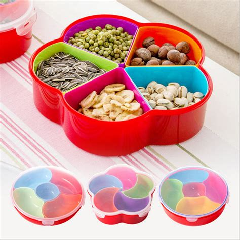 new year snack box new year detachable band cover fruit bowl with dried fruit