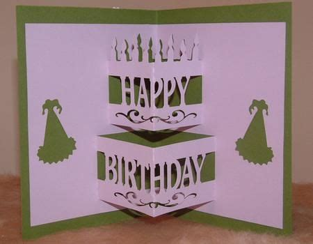free template for pop up birthday card best photos of pop up birthday cake template cake pop up