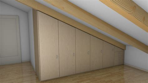 armadio mansarda mobilificio cavinato