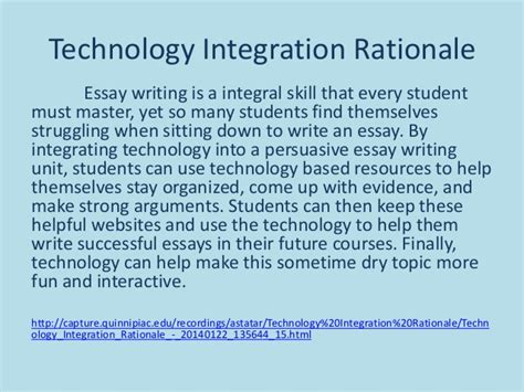 Essay About Technology In School by Persuasive Essay Writing