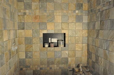 slate shower tile slate tiled shower