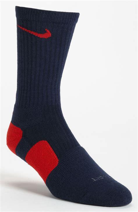 elite socks nike elite basketball crew socks in black for college