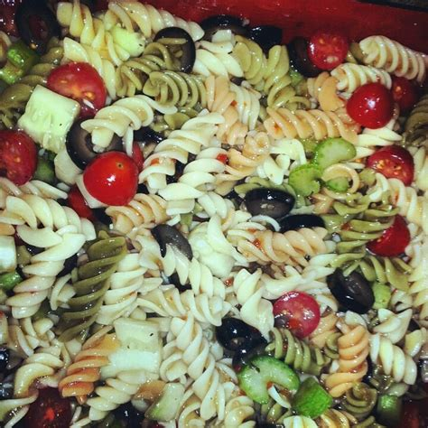 pasta salad recipe cold cold pasta salad comida pinterest