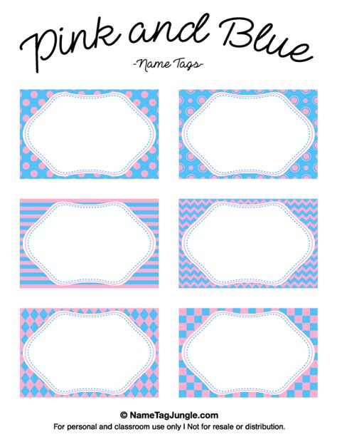 chevron pattern name tags free printable pink and blue name tags featuring patterns