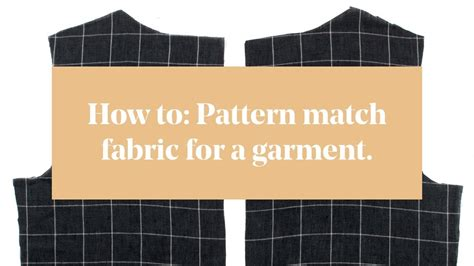 youtube pattern matching how to pattern match fabric for a garment youtube