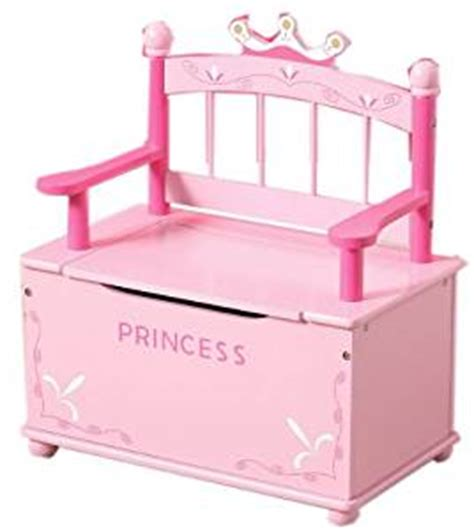princess toy bench pink princess wooden bench and toy chest storage for girls