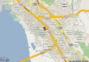 hayward california map map of vagabond inn hayward hayward
