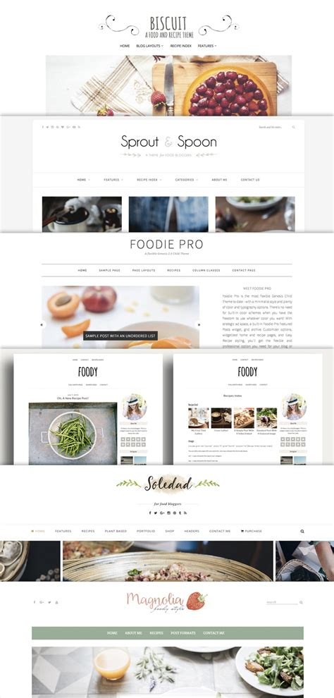The Best Yummy Wordpress Food Blog Themes For Recipes And Bloggers Hatch A Food Blog Best Food Templates