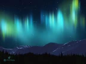 Blue aurora borealis aurora borealis cold lands artist
