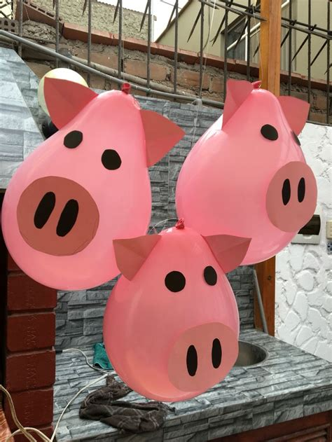 pig balloons globos de chanchitos farm party decoracion de