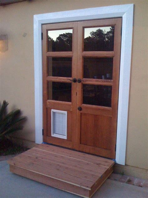 Patio Door With Doggie Door Built In Handmade Custom Doors With Door By Glerup Woodwork And Design Custommade