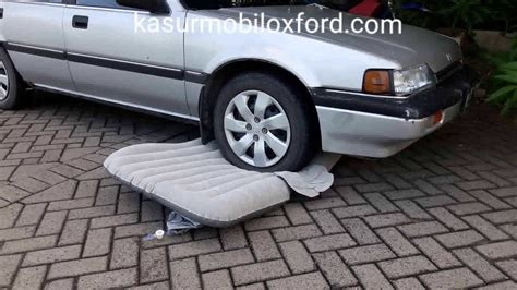 Kasur Mobil Bahan Oxford wow kasur mobil oxford tak pecah di lindas mobil sedan