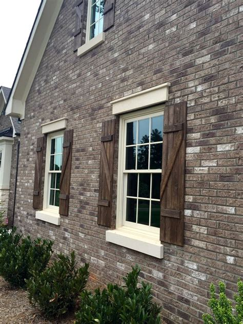 shutters on brick house best 25 exterior wood stain ideas on pinterest diy