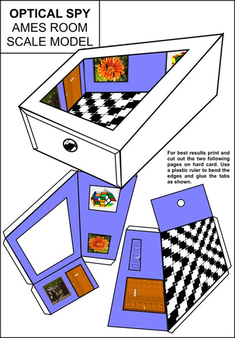 how to build an ames room ames room scale model optical
