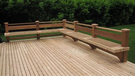 decks with benches nw custom deck seattle s deck builder portfolio