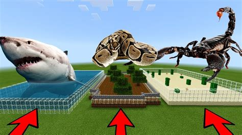 mcpe   choose  wrong farm shark scorpion anaconda youtube