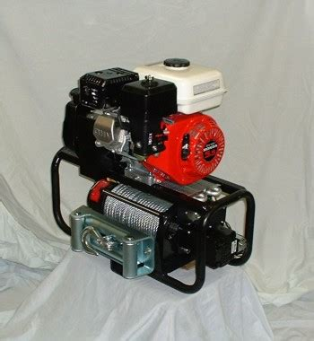 portable gas powered capstan winch 35cc honda engine 1550