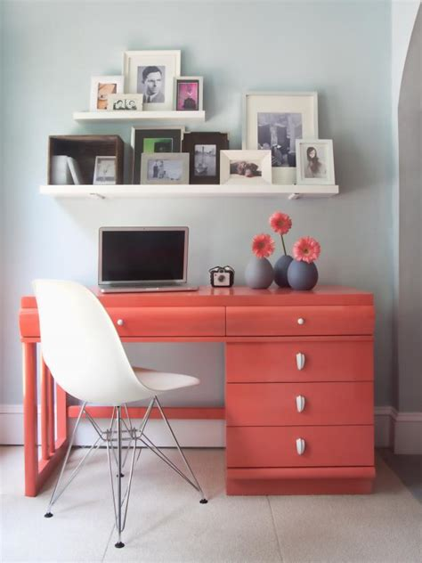 how to paint a desk how to paint furniture hgtv
