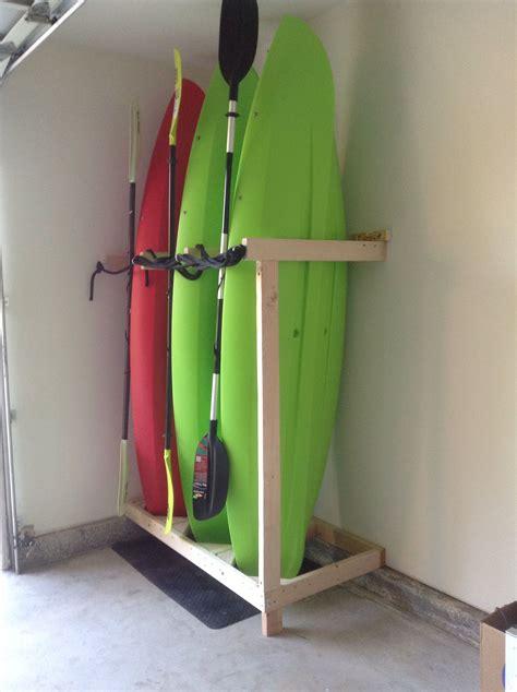 handmade kayak storage kayak storage garage diy garage